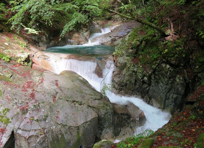 紅葉に彩られた「三重の滝」と「竜神の滝」を堪能!