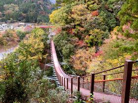 奥大井レインボーブリッジ&八橋小道に紅葉!静岡「接岨峡温泉」の楽しみ方