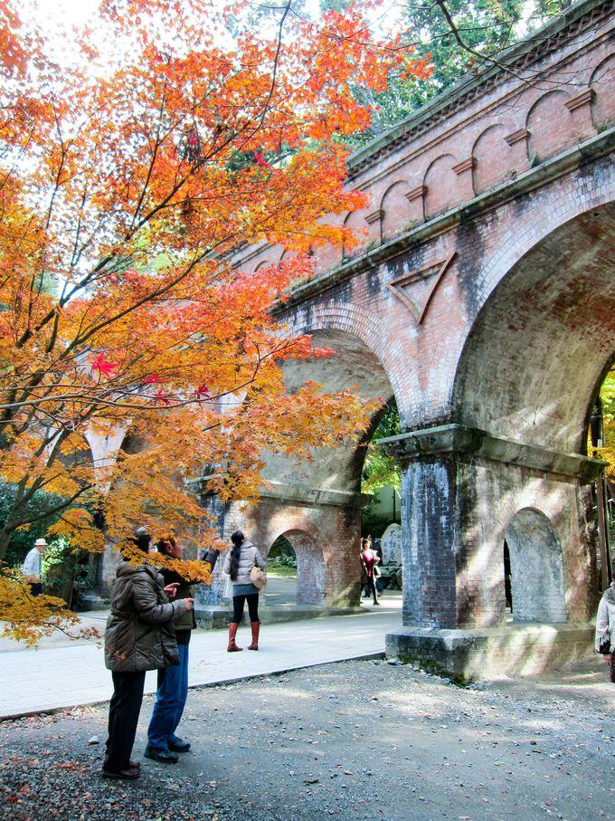 南禅寺でしか見られない!紅葉×レンガ造りの水路閣