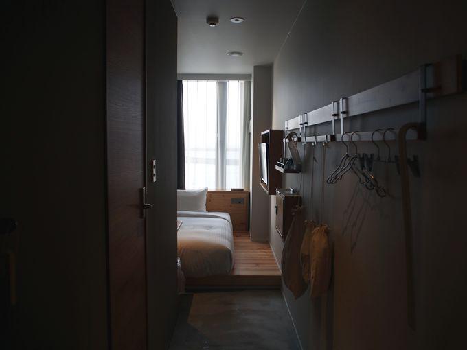 細部までこだわりを感じる、おしゃれなホテルローカスの客室
