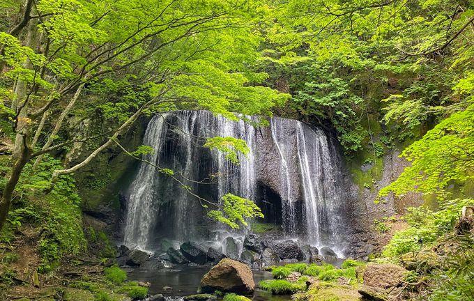 猪苗代の自然豊かな景勝地「達沢不動滝」
