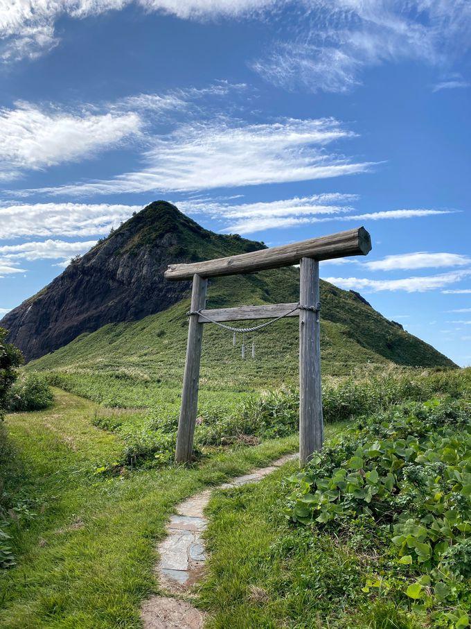 頂上まで登れる「大野亀」