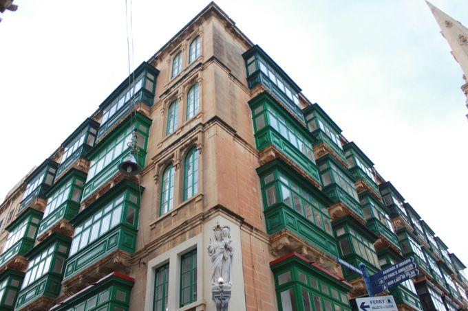 美しいマルタ・ストーンが映える「ヴァレッタ」の街並み