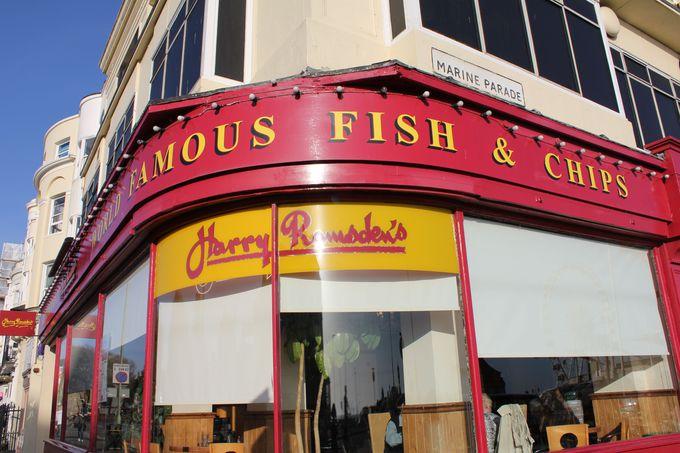 老舗「Harry Ramsden's」で本場のフィッシュ&チップス