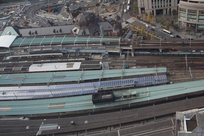 眼下に広がる東京駅の全ホームに大人も子供も大興奮!