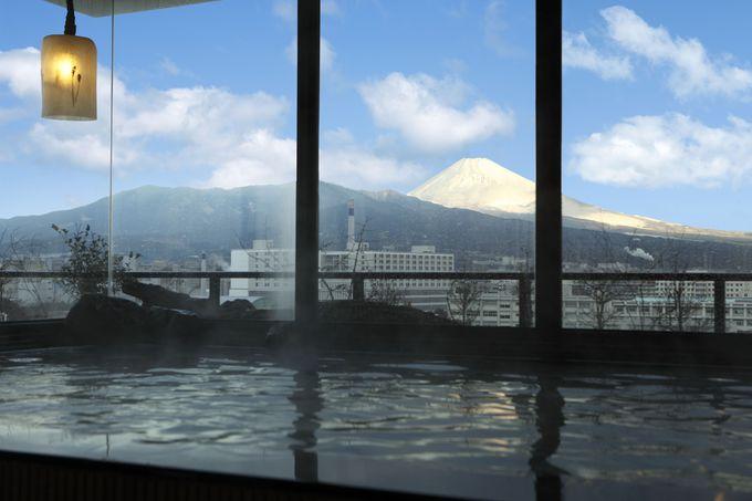 温泉につかりながら最高の富士山を眺められる貴重なホテル