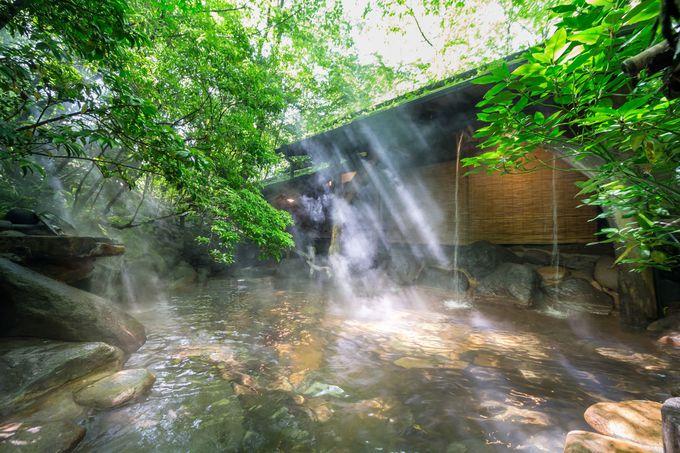 黒川温泉らしい穏やかな湯の温泉もお見逃し無く