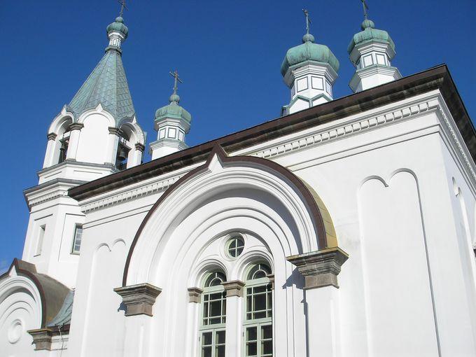 美しき街並みに映える、ハリストス正教会