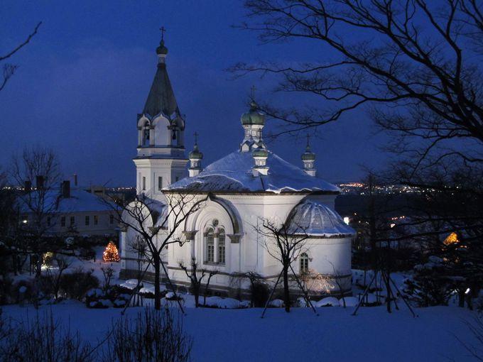 静かに佇むハリストス正教会