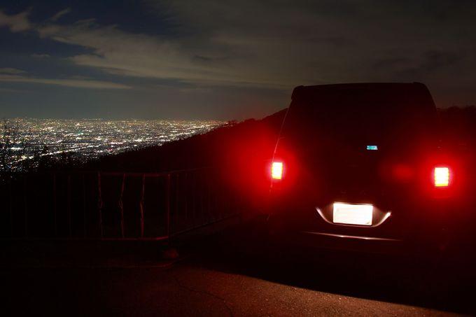 車に乗ったまま夜景観賞ができてしまう「立石越」
