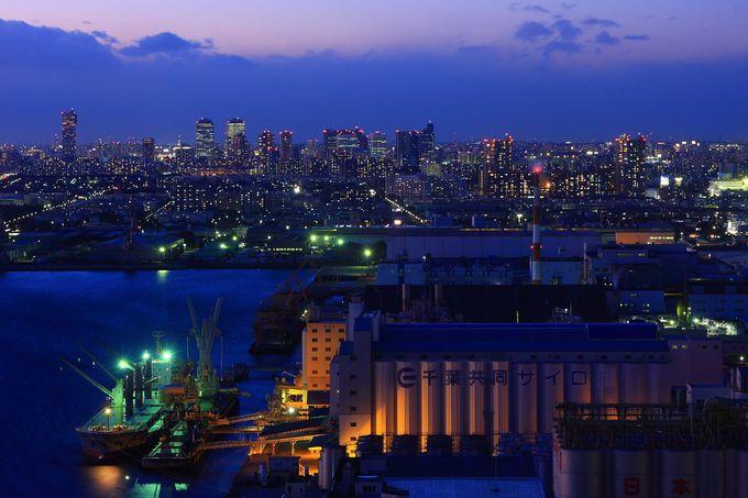 千葉みなと駅周辺の街並み夜景を見る!