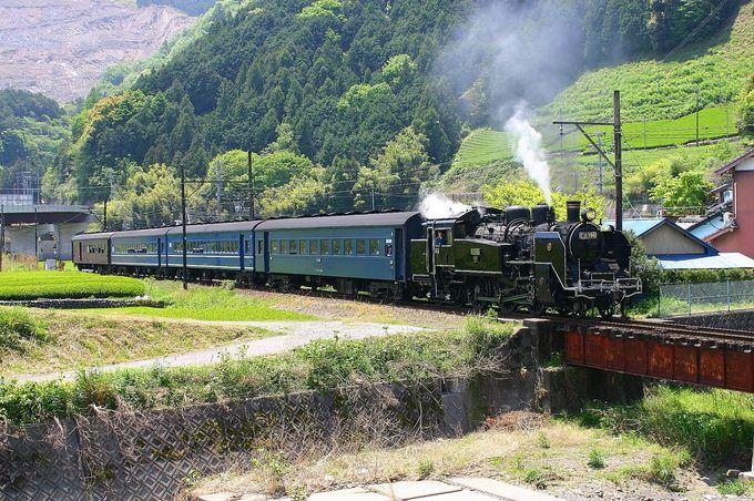 中核の「新金谷駅」、秘境の「神尾駅」、のどかな「福用川付近」