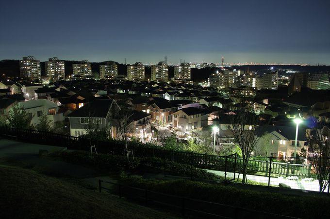 多摩地区の尾根沿いは極上夜景スポット!みはらし緑地