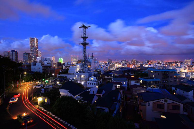 今昔カラーの夜景コントラストに絶叫!横浜「野毛山展望台」