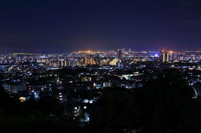 住宅街の奥間に存在する究極穴場夜景スポット「西岡本」