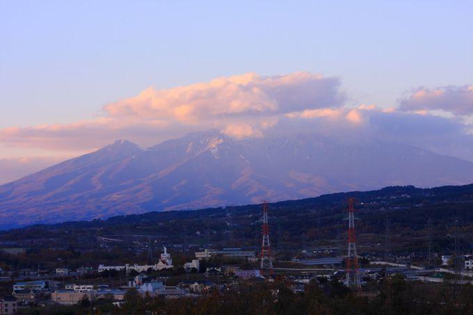 日没直後の八ヶ岳方面