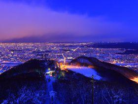 白銀のパノラマ夜景に大感動!北海道「藻岩山」から見る札幌市街