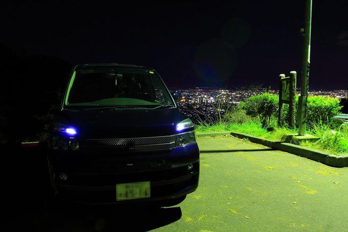 車でお気軽アクセスで夜景を楽しもう!「和田峠みはらし広場」