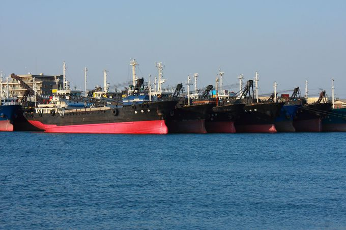 木更津港内に停泊している大型船も必見!
