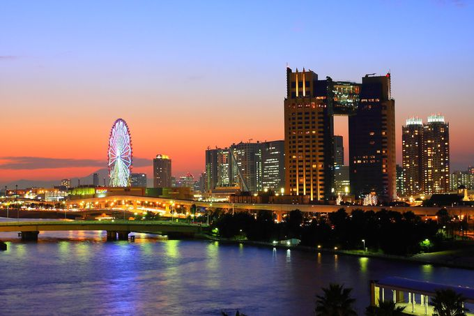 「新都橋」「東京ビッグサイト屋上」「夢の大橋」の水辺系