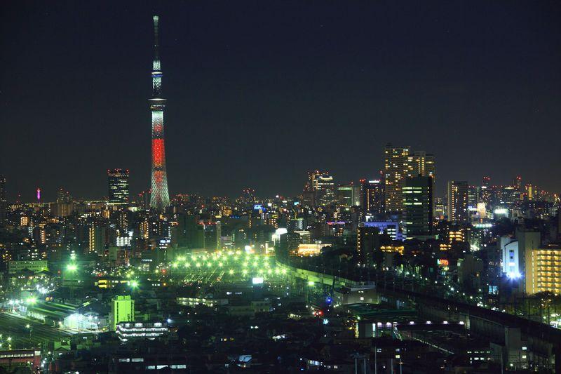 駅直結で無料!東京の王子駅前にある「北とぴあ」からの夜景