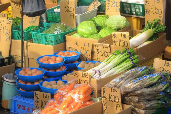 新鮮な野菜も「松原商店街」ならでは!
