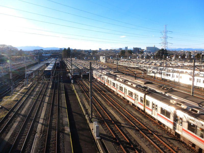 マニアックな絶景!都県境に位置する東急電鉄「長津田検車区」