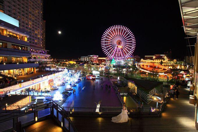 「クイーンズスクエア横浜」の3Fデッキからの眺めも必見!