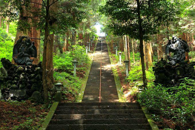 境内最高峰の奥の院道了堂へアクセスしてみよう!