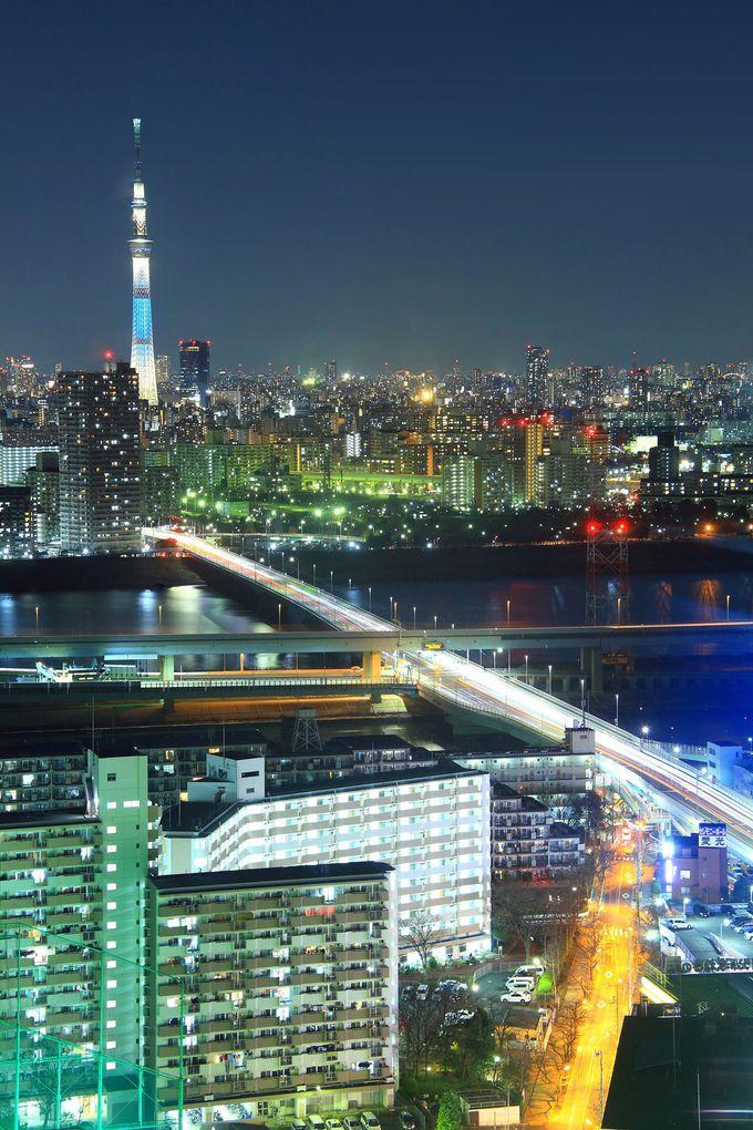 真西には東京スカイツリーも!