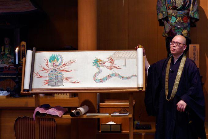 安珍清姫の話を伝える「絵とき説法」