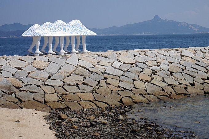 小さな島「男木島」は、作品が密集していて見やすい。