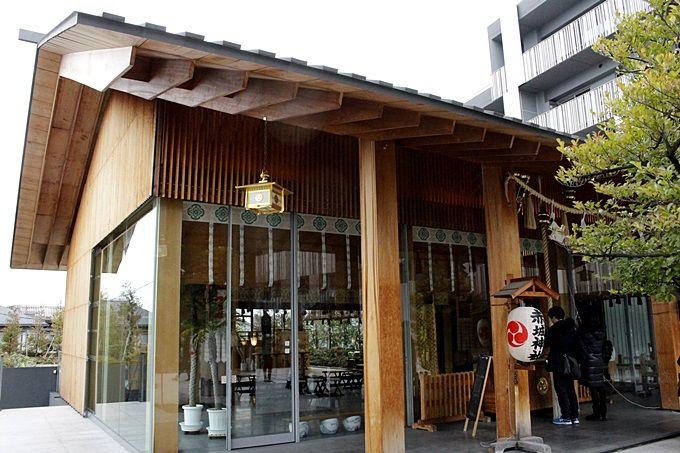 都内で一番スタイリッシュな神社!隈研吾氏設計「赤城神社」