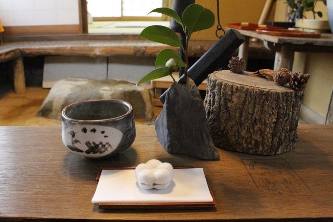 お茶と和菓子でほっこり「万葉亭」
