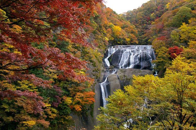 絶景!滝と紅葉のコラボレーション「袋田の滝」