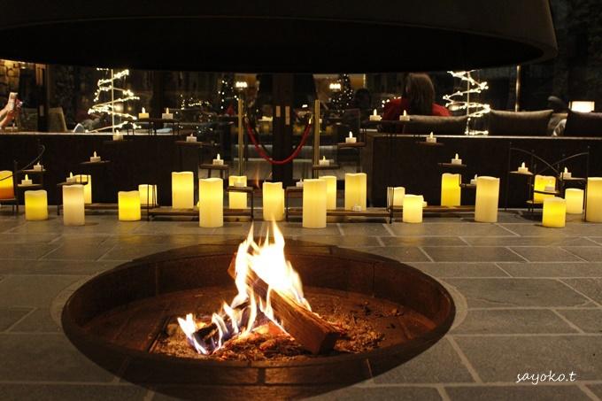 暖炉フロアの居心地は格別!