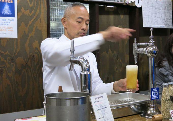 生ビールの旨さを追求して、昭和初期のビアサーバーを復活