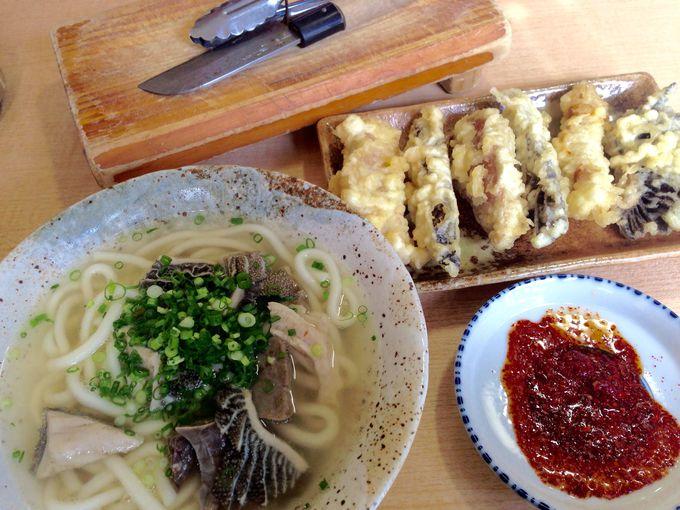 カリッ、サクッ、の天ぷらはピリ辛ポン酢でいただきます!