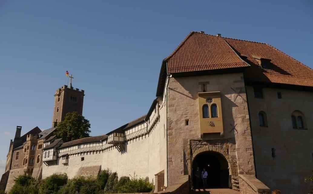 山の上にそびえるヴァルトブルク城