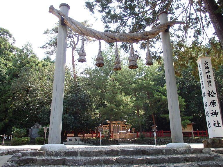 三ツ鳥居の桧原神社