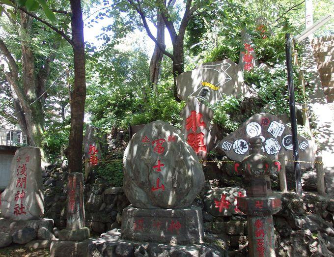 富士塚の上にある駒込富士神社は「登拝」
