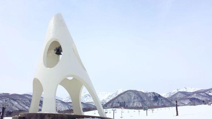 ゲレンデの端と端が見えないほど広い「鐘の鳴る丘ゲレンデ」