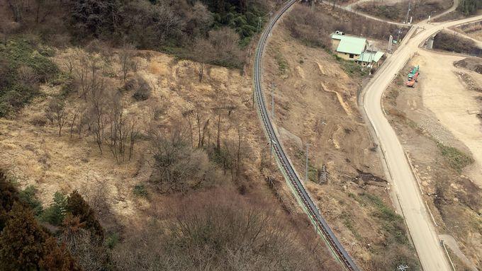 不動大橋から見下ろす未来のダム予定地