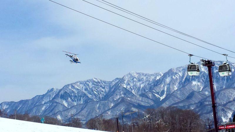 ヘリコプターで標高2200mの世界へ!長野・白馬「栂池高原スキー場」