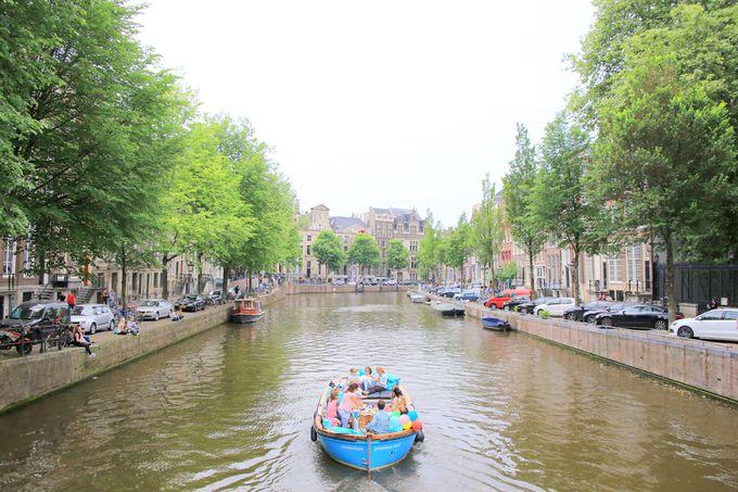 まずは運河を鑑賞