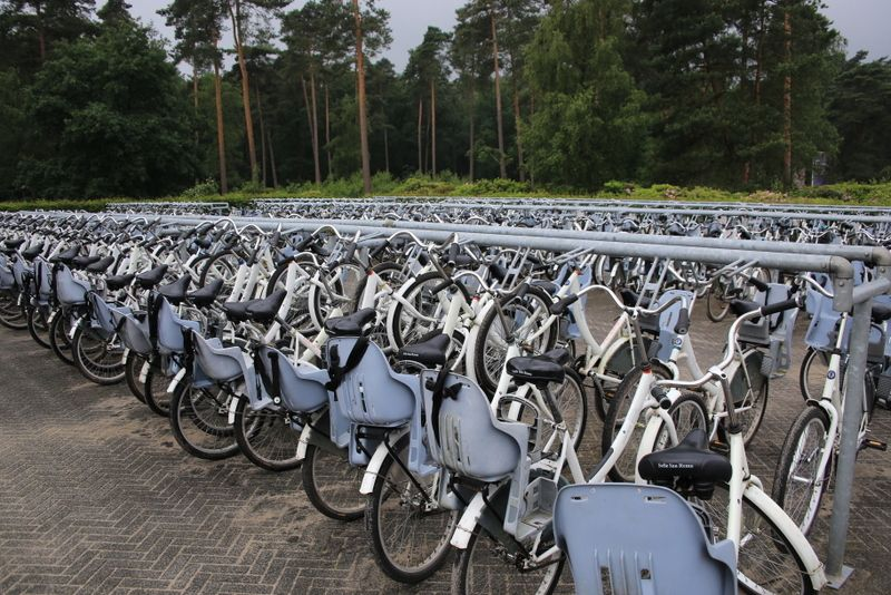 圧巻の自転車保有数