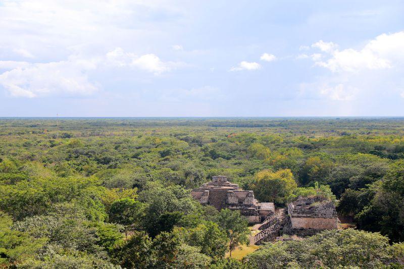 王が眠っていた遺跡からユカタン大地を一望!メキシコ「エクバラン遺跡」