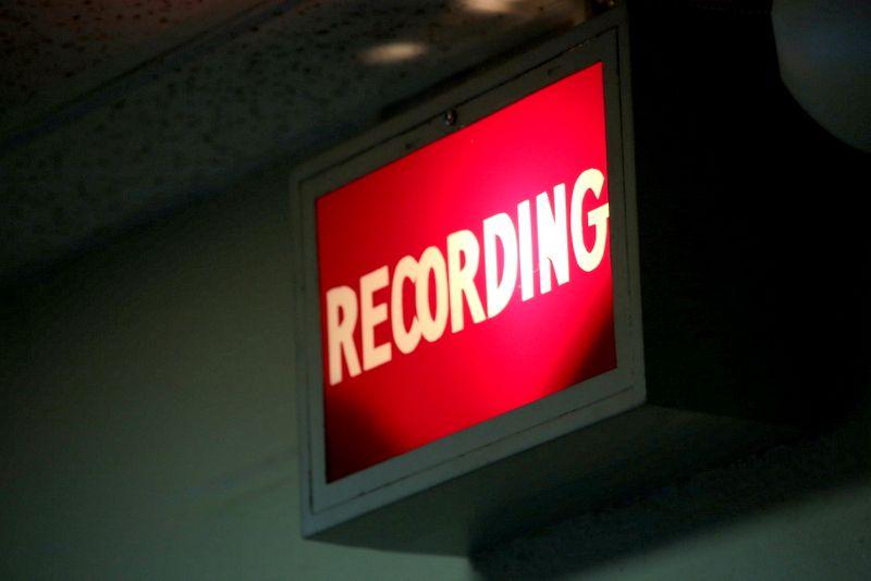 専門的な録音機器に興奮