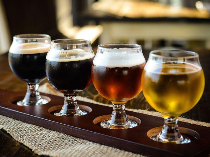 20種類以上のビールが勢ぞろい