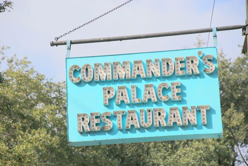 コマンダーズ・パレスで優雅な食事を